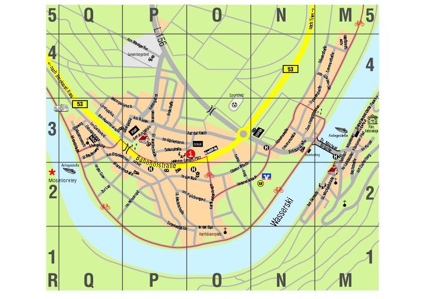 Mosel Radweg Karte Pdf.Wein Und Ferienort Piesport Mosel Piesport Ortsplan